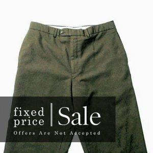 SALE! Ralph Lauren Brown Flat Front Pants 34 M410
